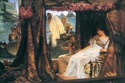Antony and Cleopatra by Sir Lawrence Alma-Tadema