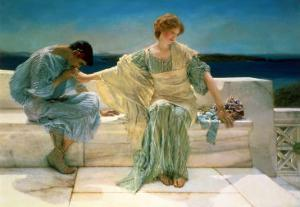 Ask Me No More, 1906 by Sir Lawrence Alma-Tadema