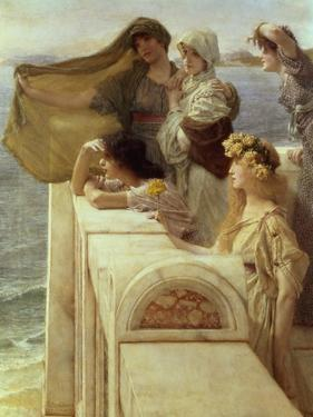 At Aphrodite's Cradle by Sir Lawrence Alma-Tadema