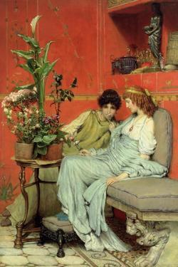 Confidences, 1869 by Sir Lawrence Alma-Tadema