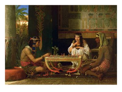 Egyptian Chess Players, 1865 (Oil on Panel)