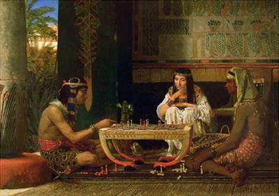 Egyptian Chess Players, 1865 (Oil on Panel) by Sir Lawrence Alma-Tadema