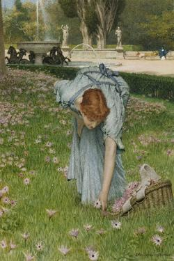 Flora - Spring in the Gardens of the Villa Borghese by Sir Lawrence Alma-Tadema