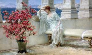 Her Eyes are with Thoughts and They are Far Away by Sir Lawrence Alma-Tadema