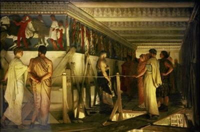 Phidias and the Parthenon Frieze by Sir Lawrence Alma-Tadema