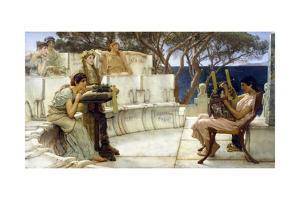 Sappho and Alcaeus by Sir Lawrence Alma-Tadema