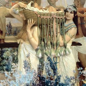 The Finding of Moses by Pharaoh's Daughter, 1904 (Detail) by Sir Lawrence Alma-Tadema