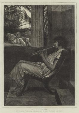 The Flute Player by Sir Lawrence Alma-Tadema