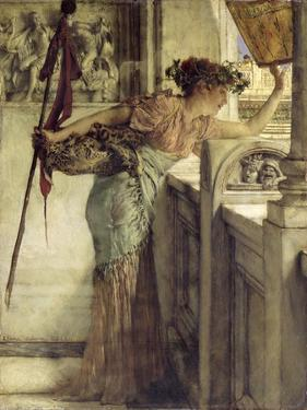 'There He Is!', 1875 by Sir Lawrence Alma-Tadema