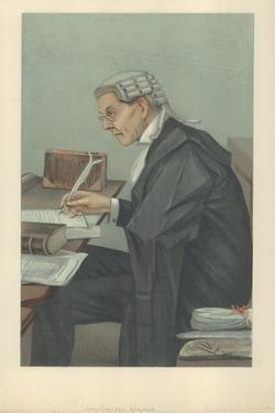 Mr John Lawson Walton, 6 March 1902, Vanity Fair Cartoon by Sir Leslie Ward