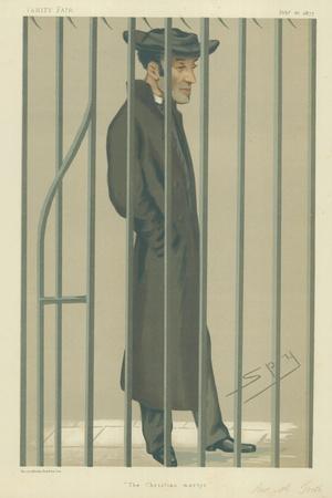 The Reverend Arthur Tooth, the Christian Martyr, 10 February 1877, Vanity Fair Cartoon