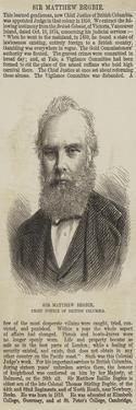 Sir Matthew Begbie, Chief Justice of British Columbia