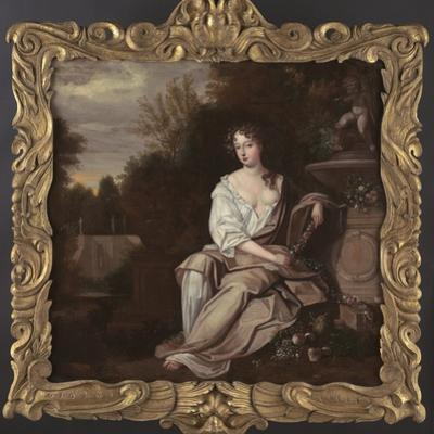 Portrait of Nell Gywn with Frame, 1670s by Sir Peter Lely
