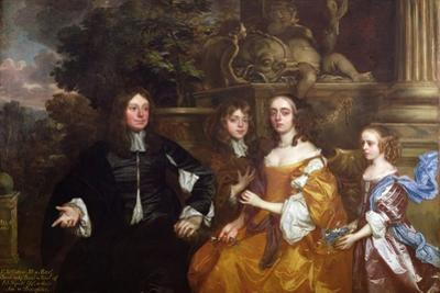 Sir John Cotton and His Family, 1660 by Sir Peter Lely