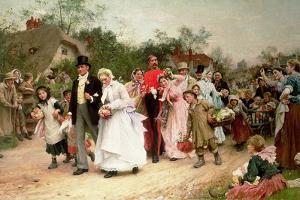 The Village Wedding, 1883 by Sir Samuel Luke Fildes