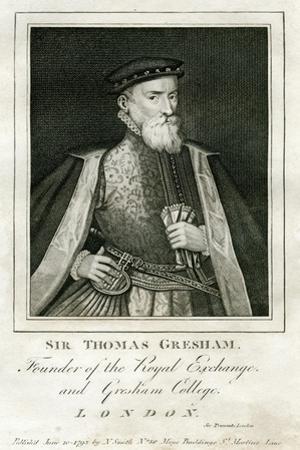 Sir Thomas Gresham, British Merchant and Financier, 16th Century