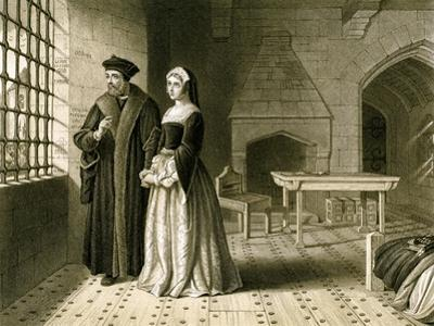 Sir Thomas More (1478-153) and His Daughter, Margaret, 19th Century
