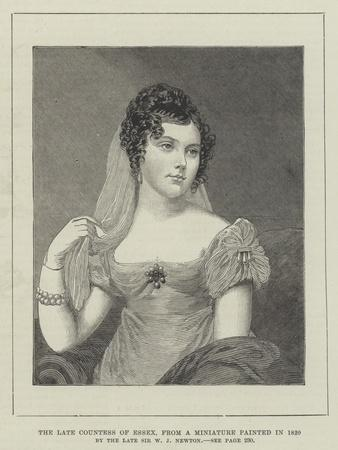 The Late Countess of Essex