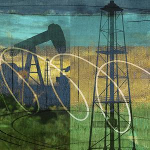 Oil Rig and Oil Well Collage by Sisa Jasper