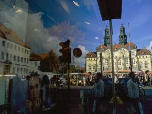 A Window Reflection of Luneburg's Town Hall by Sisse Brimberg