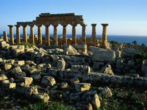 Greek Temple at Selinunte by Sisse Brimberg