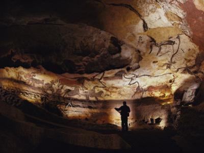 Paleolithic Bulls and Other Animals Crowd Calcite Walls at Lascaux, France by Sisse Brimberg