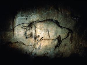 View of a Bison Painted at Lascaux Approximately 17,000 Years Ago by Sisse Brimberg