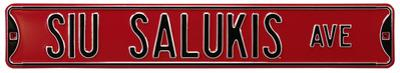 SIU Salukis Ave Steel Sign