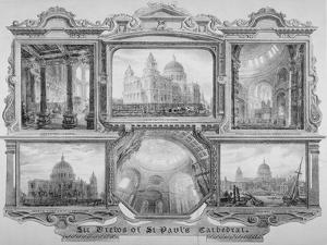 Six Views of St Paul's Cathedral, City of London, 1830