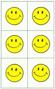 Six Yellow Happy Faces