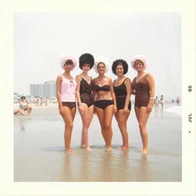 Sixties Women with Wild Bathing Caps