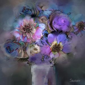 Blue Flowers by Skarlett