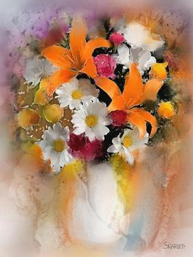 Orange Lilies by Skarlett