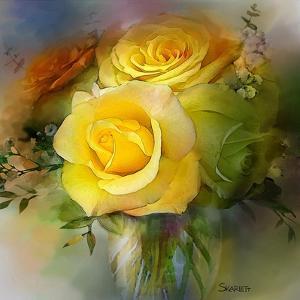 Yellow Rose by Skarlett