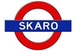 Skaro Subway Sign Travel Poster