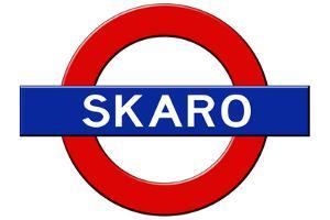 Skaro Subway Sign Travel Poster
