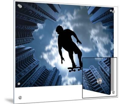 Skateboarder Silhouette Among Skyscrapers
