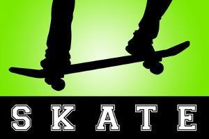 Skateboarding Green SporTSPoster