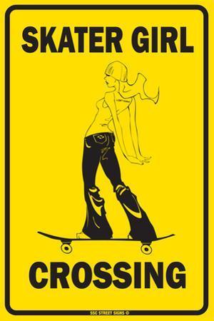 Skater Girl Crossing