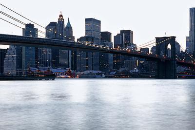 New York, Brooklyn Bridge and Lower Manhattan
