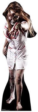 Skeleton Zombie Nurse Lifesize Cardboard Cutout