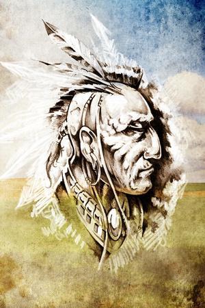 https://imgc.allpostersimages.com/img/posters/sketch-of-tattoo-art-indian-head-over-crop-field-background_u-L-PN08S70.jpg?p=0