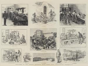 Sketches at the Gordon Memorial Boys' Home, Fort Wallington, Portsmouth