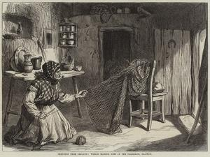 Sketches from Ireland, Woman Making Nets in the Claddagh, Galway