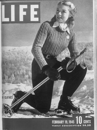 Ski Fashions on Life Cover 02-19-1945