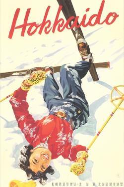 Ski Hokkaido Travel Poster
