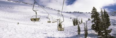 Ski Lifts in a Ski Resort, Snowbird Ski Resort, Utah, USA