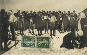 Ski Meeting at Saint-Agreve Cevennes: The Start of a Race