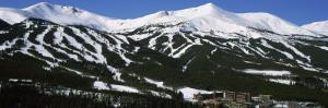 Ski Resorts in Front of a Mountain Range, Breckenridge, Summit County, Colorado, USA