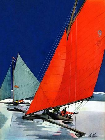 """""""Iceboats Racing,""""February 18, 1939"""